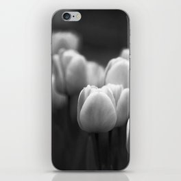 Black and white tulips iPhone Skin