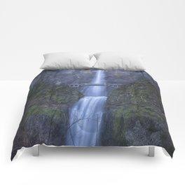 Multnomah Falls, painterly Comforters