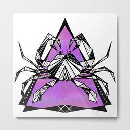 Cancer zodiac sign geometric Metal Print