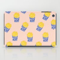 fries iPad Cases featuring Floral Fries by Bouffants and Broken Hearts