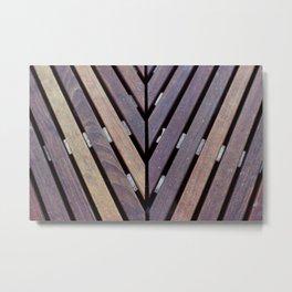 Wooden Bench Metal Print