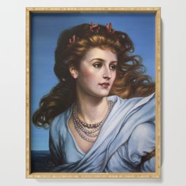 Miranda - reproduction painting by Frank Dicksee Serving Tray