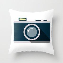 Camera Minimale Throw Pillow