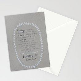 NERUDA - Sonnet 17 Stationery Cards