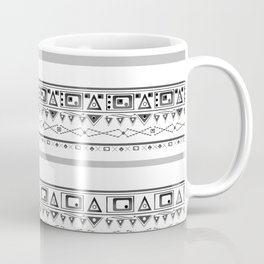 Black with gray and white pattern . Coffee Mug