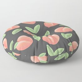grey peaches Floor Pillow