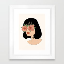 Blinded By Beauty Framed Art Print