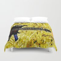 rock and roll Duvet Covers featuring ROCK AND ROLL - 017 by Lazy Bones Studios