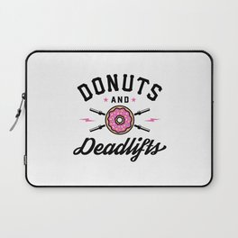 Donuts And Deadlifts v2 Laptop Sleeve