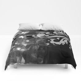 Grayscale Chandelier & Damask Comforters