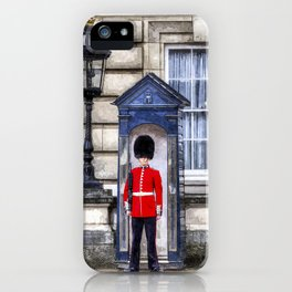Buckingham Palace Queens Guard Art iPhone Case
