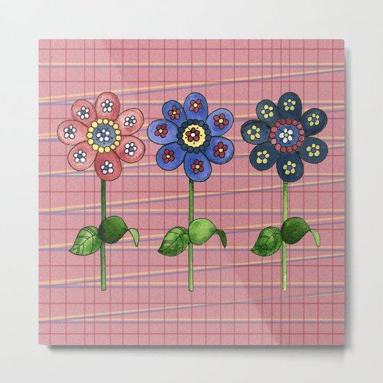 Flower Row II Metal Print