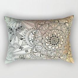 Butterfly Mandala Rectangular Pillow