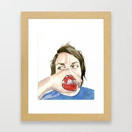 New Mouth Framed Art Print