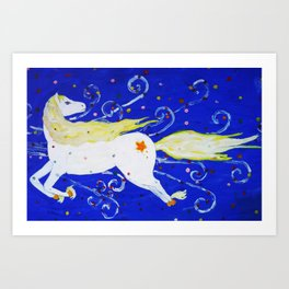 Night Horse Art Print