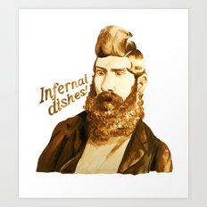 Infernal dishes Art Print