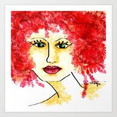 Miss Blossom Art Print