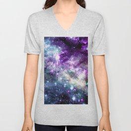 Tarantual Nebula Purple TEal Unisex V-Neck
