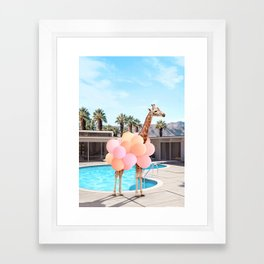 Giraffe Palm Springs Framed Art Print