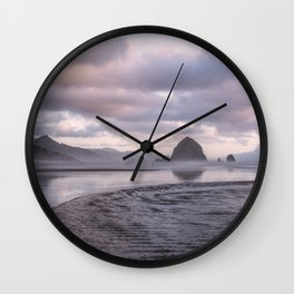 Looking at the mountains Wall Clock