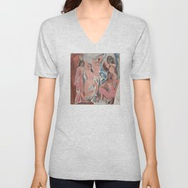 Pablo Picasso - Les Demoiselles d'Avignon Unisex V-Neck