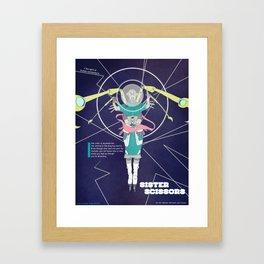 Sister Scissors Framed Art Print
