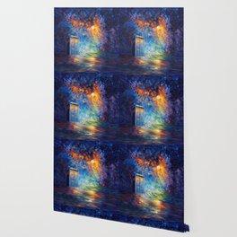 Tardis Doctor Who Rainbow Abstract Wallpaper