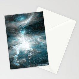Orion Nebula Teal Gray Galaxy Stationery Cards