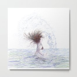 Feeling the Energy of the Sea Metal Print