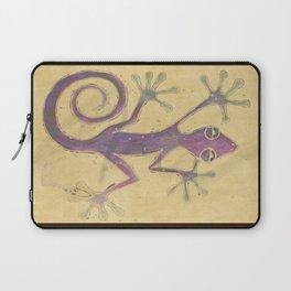 Purple Gecko of Love Laptop Sleeve