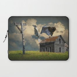 Wash on the Line by Abandoned House Laptop Sleeve