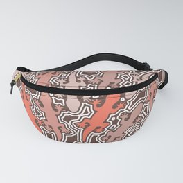 Lizards in apricot and coral orange Fanny Pack