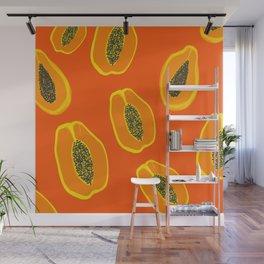 Sarah - papaya Wall Mural
