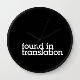Found in translation Wall Clock