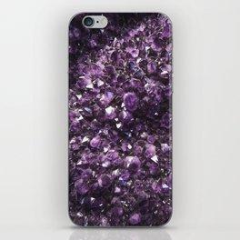 Amethyst Crystal Photography iPhone Skin