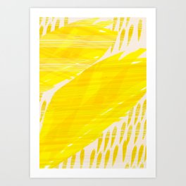 millennial yellow Art Print
