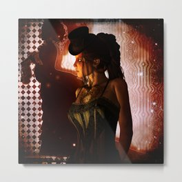 Wonderful steampunk lady Metal Print