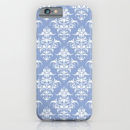 Damask Pattern | Vintage Patterns | Serenity | Pantone Color of the Year 2016 | Victorian Gothic | iPhone Case