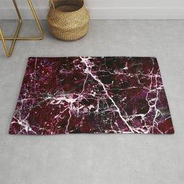 Modern abstract burgundy white stylish marble Rug