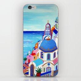 Santorini churches Greek Islands iPhone Skin