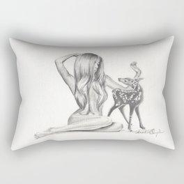 Beauty and Bambi Rectangular Pillow