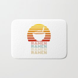 Ramen Life Japanese Noodles Vintage Retro Style Gift Bath Mat
