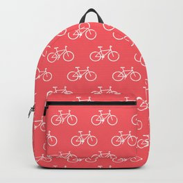 bicycles textured - summer red Backpack