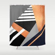 Geometric Combination V2 Shower Curtain