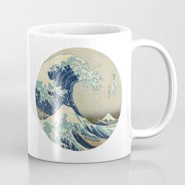 Great Wave Off Kanagawa Circle Coffee Mug