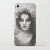 day of the dead iPhone & iPod Cases featuring Day of the Dead by Nicolas Jamonneau