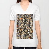 minions V-neck T-shirts featuring Hive of Activity by Shawn Kelvin