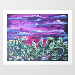 Sunset in a Way Art Print