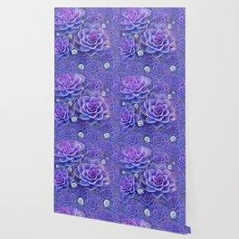 """""""Bouquet of pastel violet exotic succulents"""" Wallpaper"""