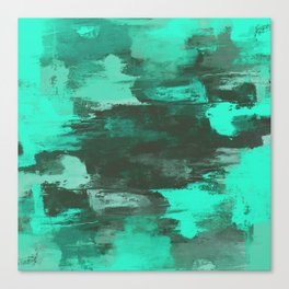 Chill Factor - Abstract in blue Canvas Print